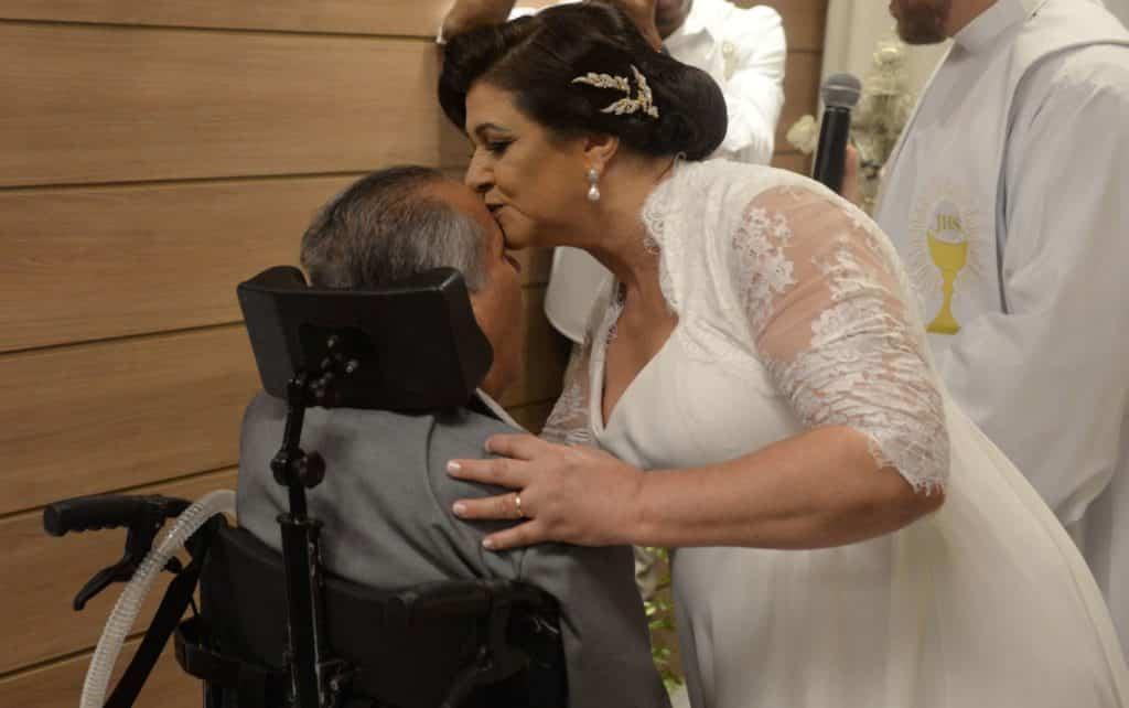 Paciente de Home Care realiza o sonho de casar no religioso