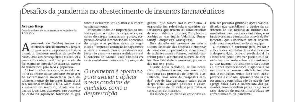 Artigo Arauna Itaicy no Jornal A Tarde
