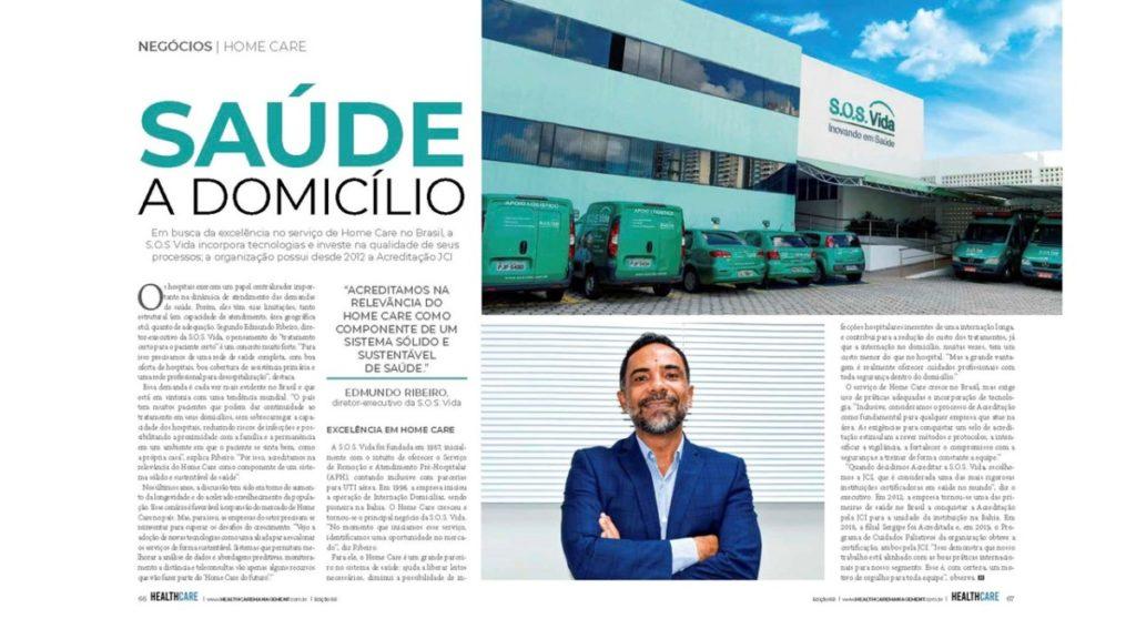 Entrevista com Edmundo Ribeiro na revista Healthcare