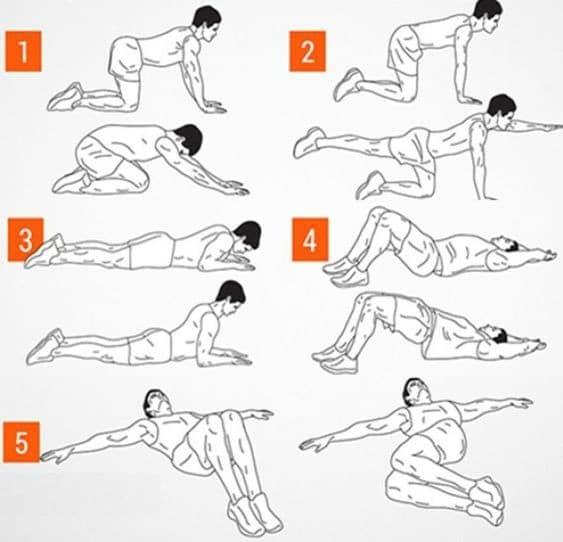 Alongamentos para prevenir dores nas costas