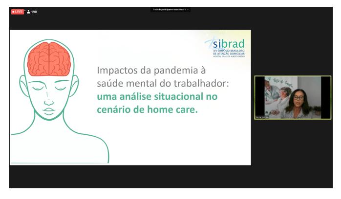 Saúde Mental na Pandemia, trabalho apresentado no Sibrad
